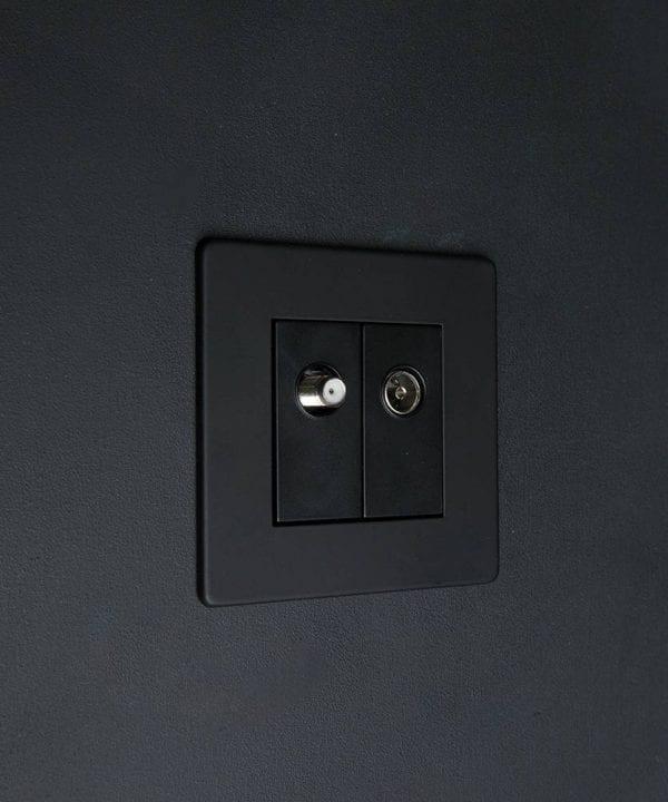 Black Double Data Port