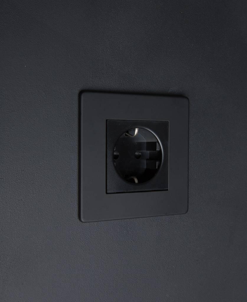 Black Schuko Single Socket