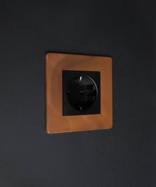 Tarnished Copper & Black Schuko Single Socket