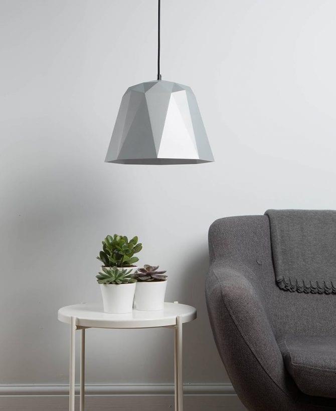 Geometric pendant light osaka white