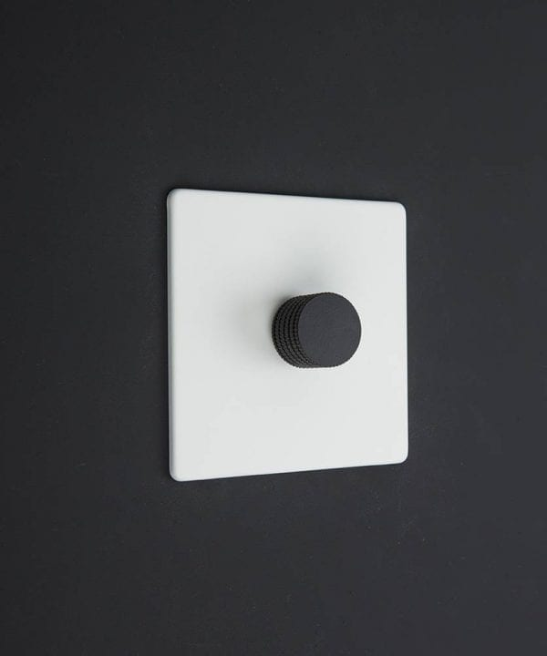 white & black single dimmer