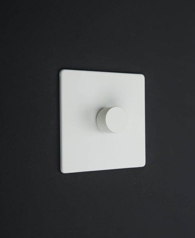 white & white single dimmer