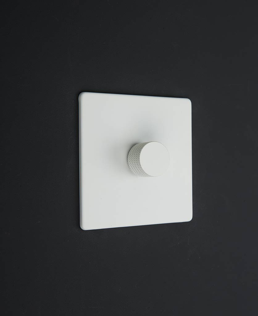 white & white single dimmer