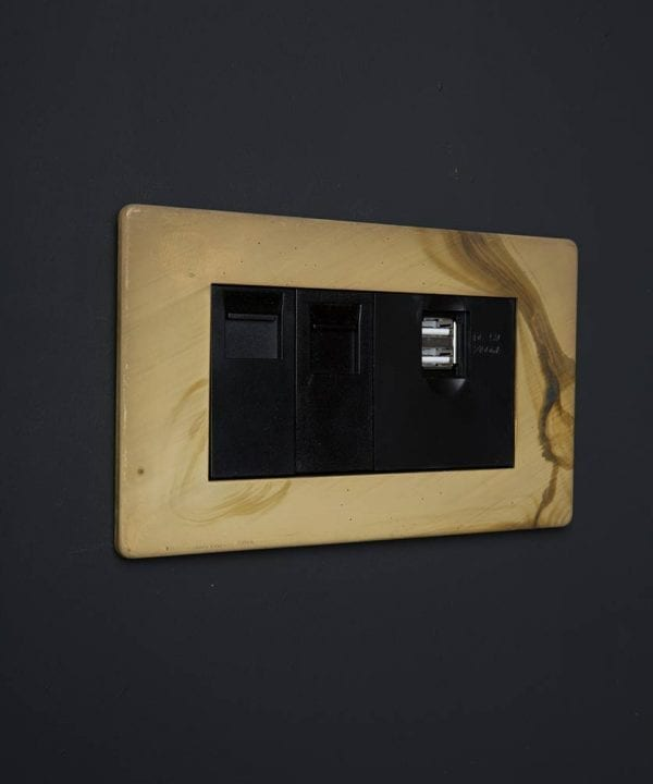 Smoked Gold & Black Quad Data Port