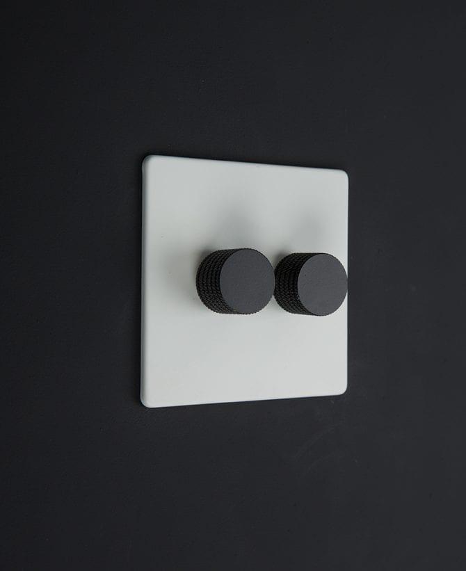white & black double dimmer standard