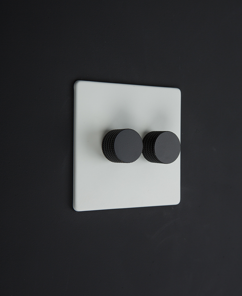 white & black double dimmer standard