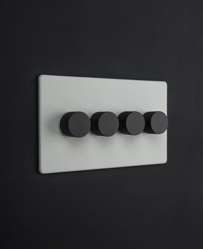 white & black quad dimmer
