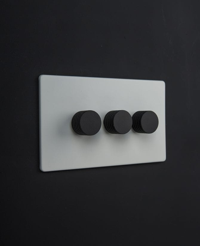 white & black triple dimmer