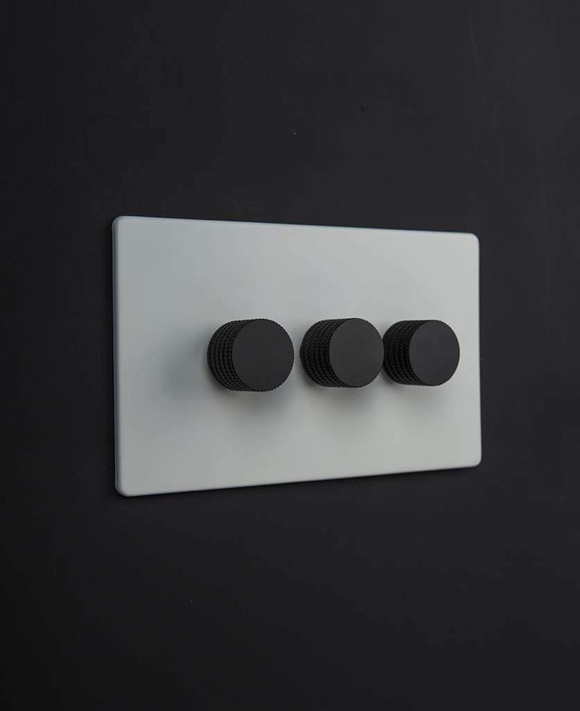 white & black triple dimmer