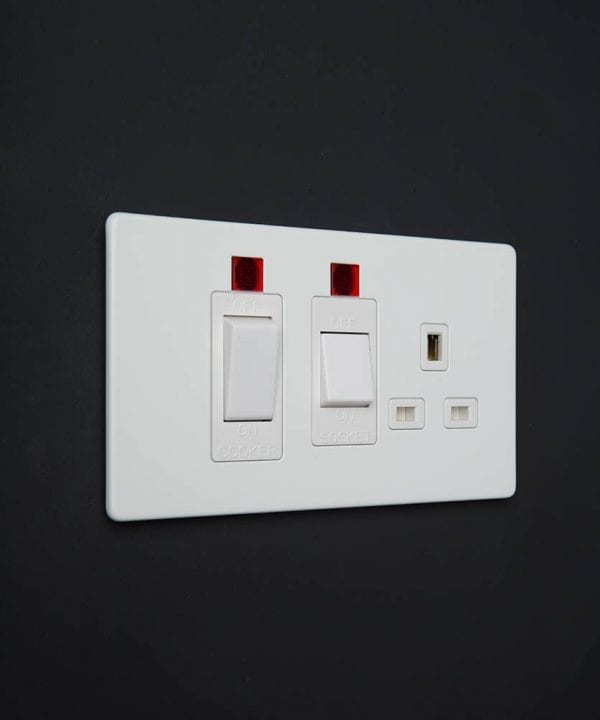 white cooker switch & socket