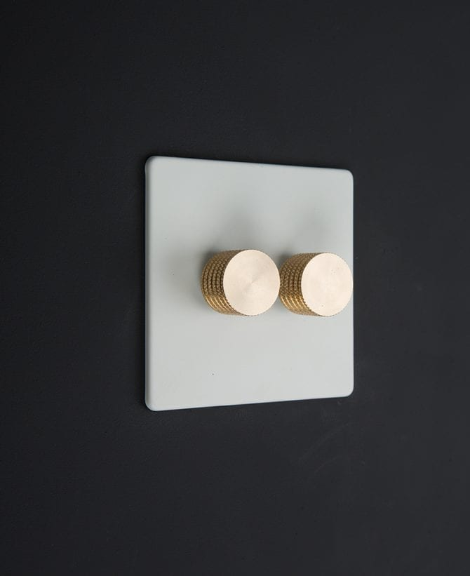 white & gold double dimmer standard