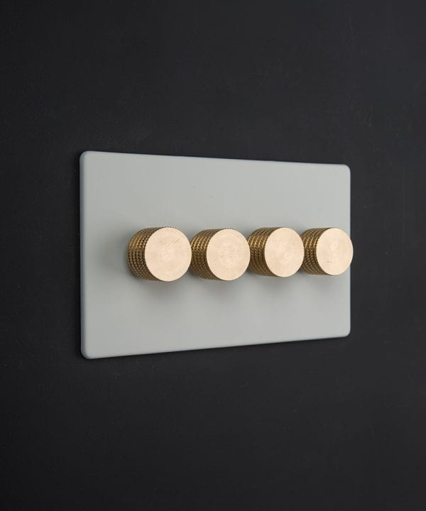 white & gold quad dimmer