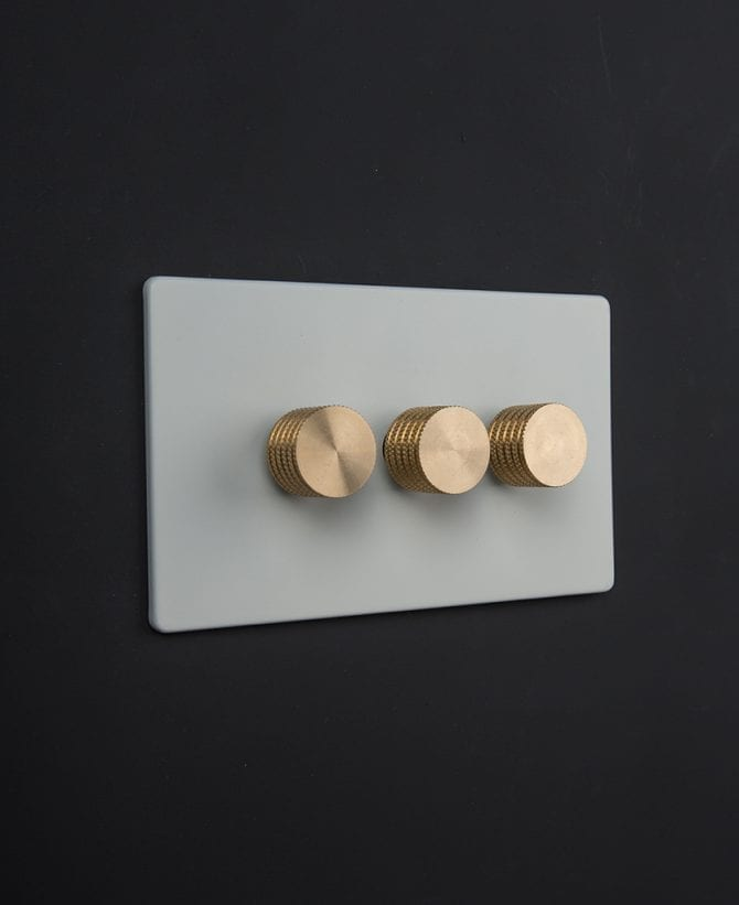white & gold triple dimmer
