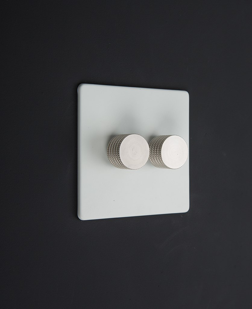 white & silver double dimmer standard