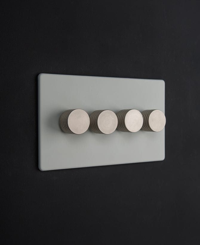 white & silver quad dimmer