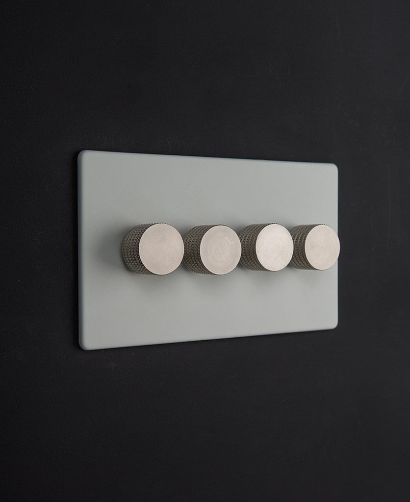 white & silver quad dimmer