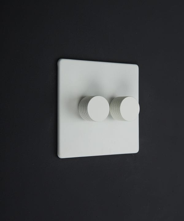 white & white double dimmer standard