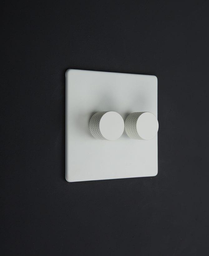 white & white double dimmer standard