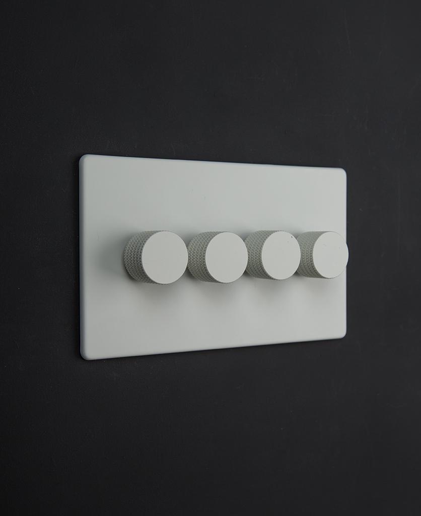 white & white quad dimmer