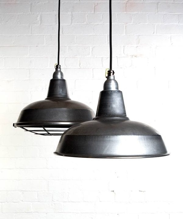 Enamel factory-style kitchen Heat Lamp