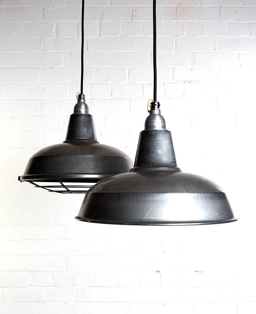 Enamel Factory-Style Kitchen Heat Lamp - Available in Two Styles
