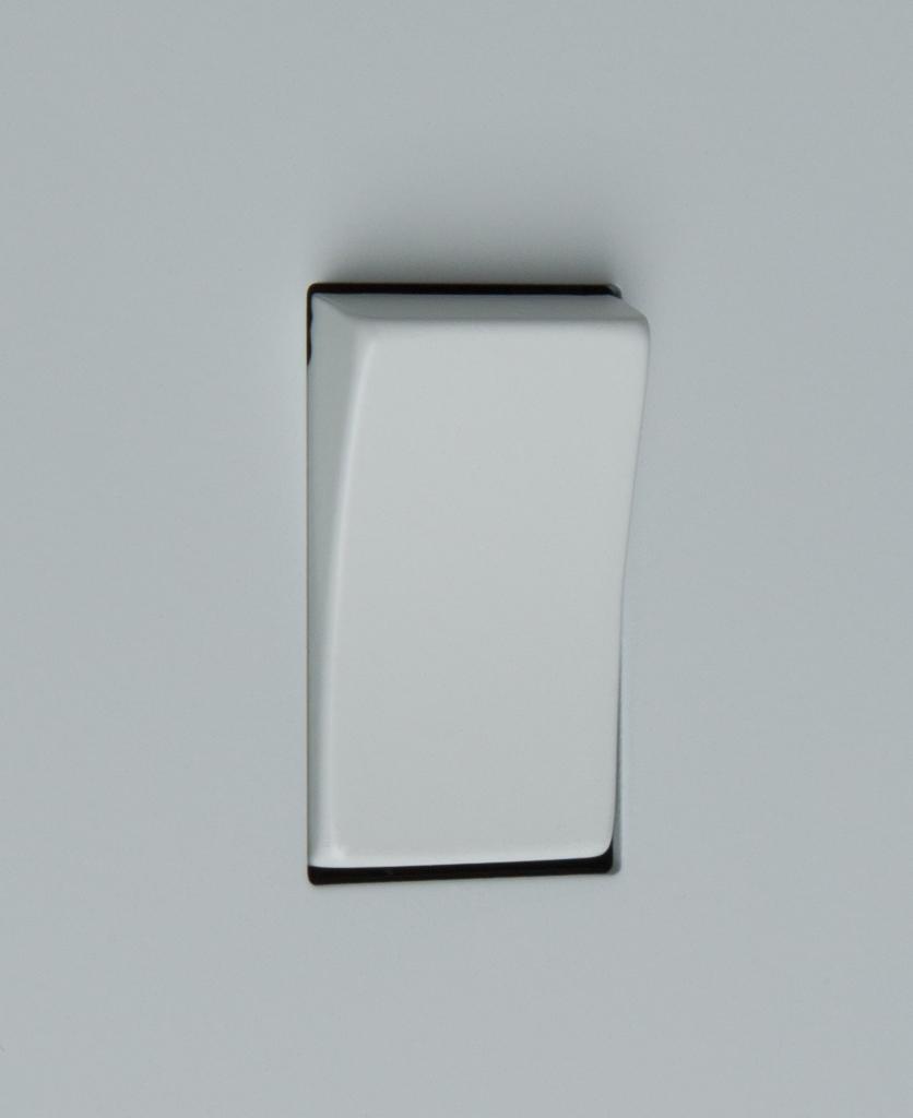 white single rocker switch close up