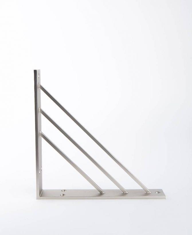angle shelf bracket silver medium