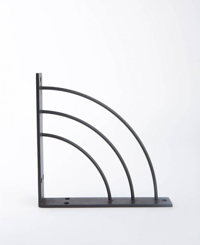 metal shelf arc bronze medium