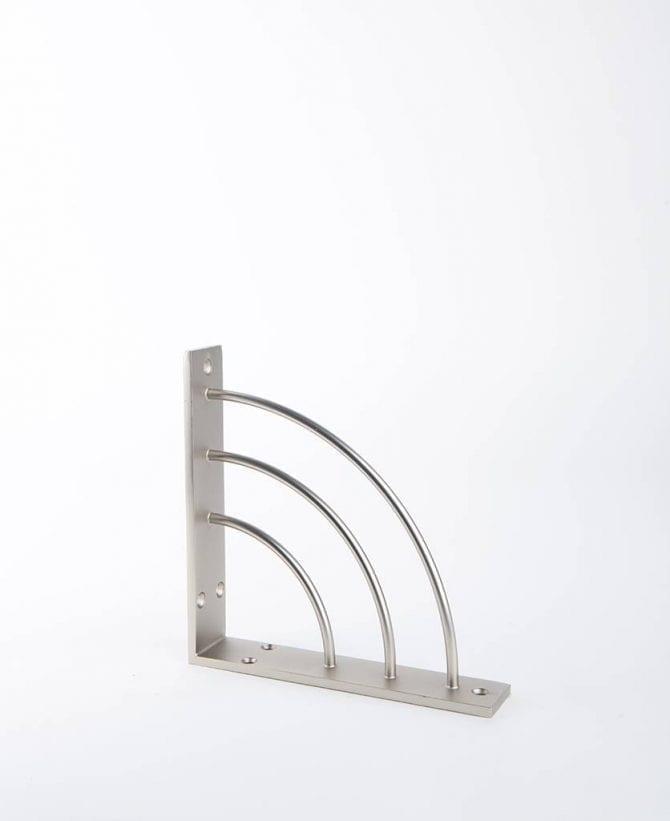 metal shelf arc silver