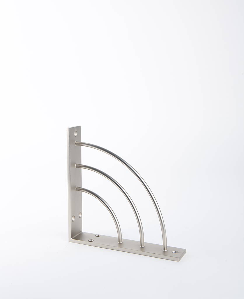 metal shelf arc silver
