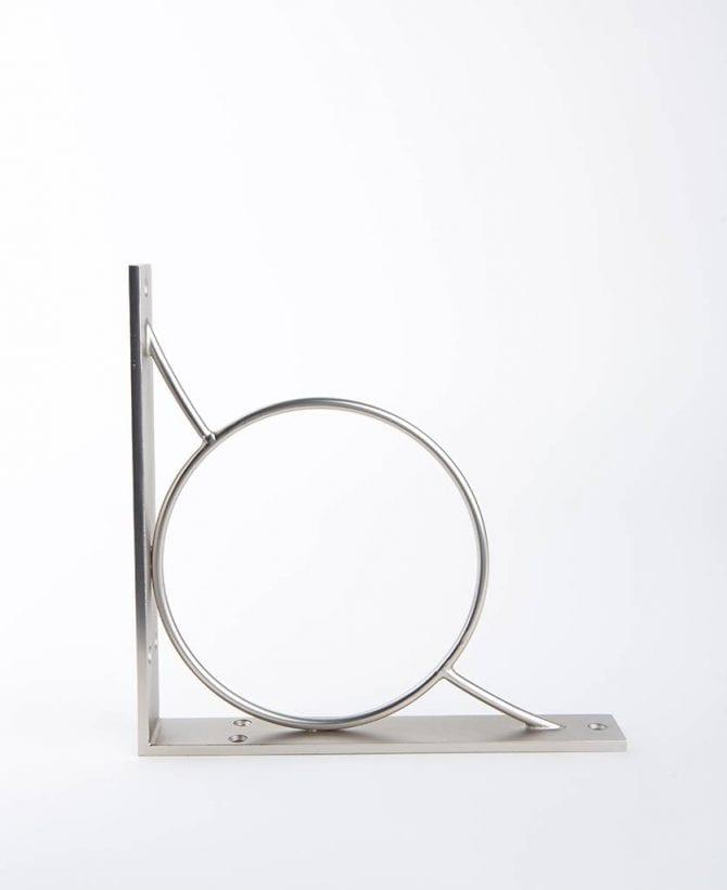 circle shelf bracket silver medium