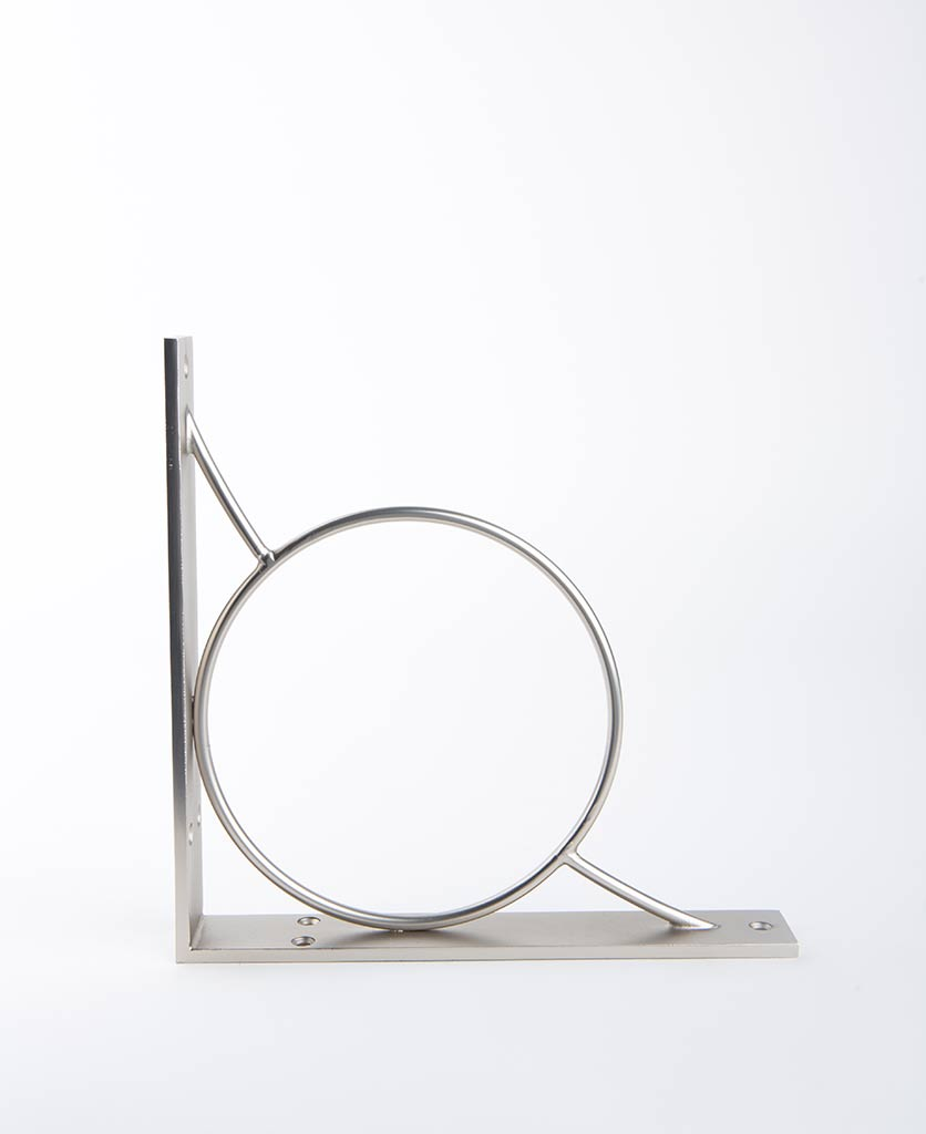 circle shelf bracket silver medium