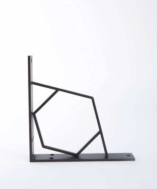 hex shelf bracket bronze medium