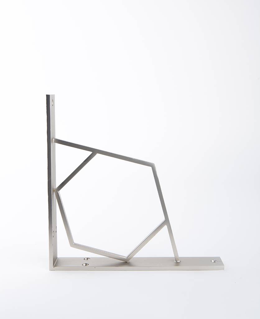 hex shelf bracket silver medium