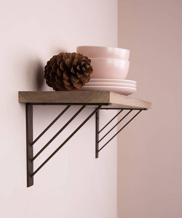ingrid angular metal shelf bracket