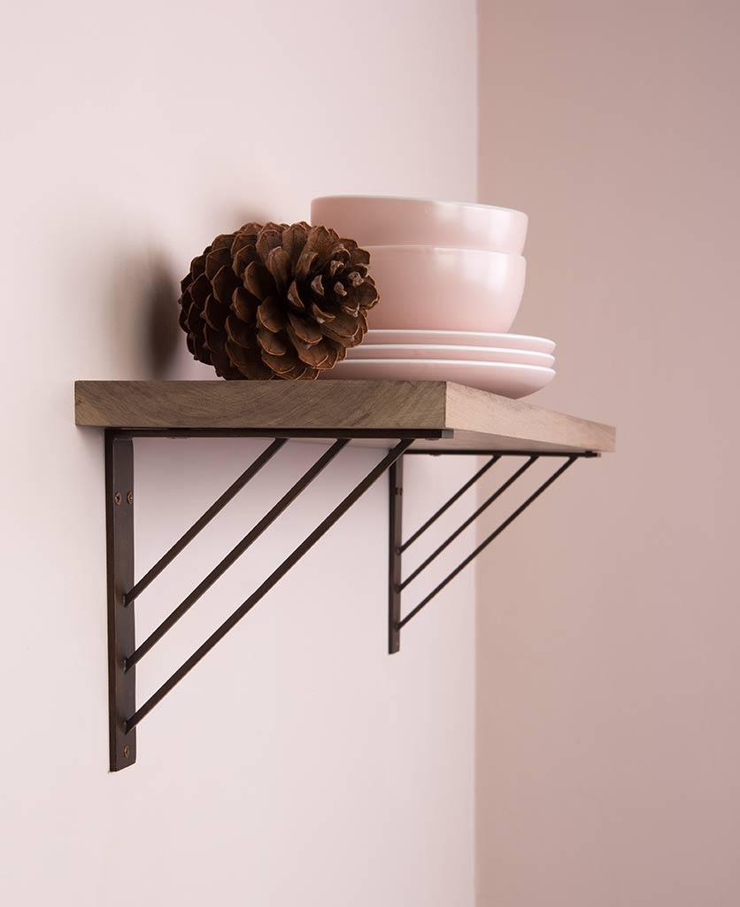 ingrid angular metal shelf bracket
