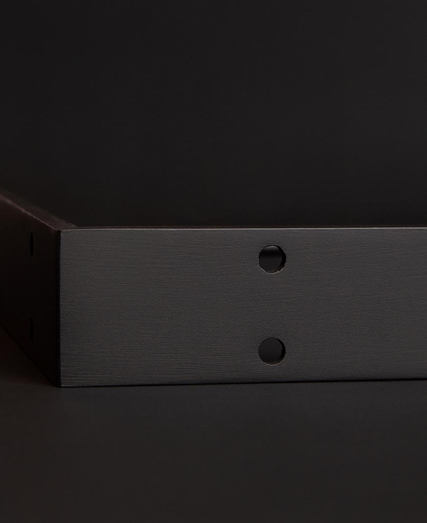 large antique black shelf bracket