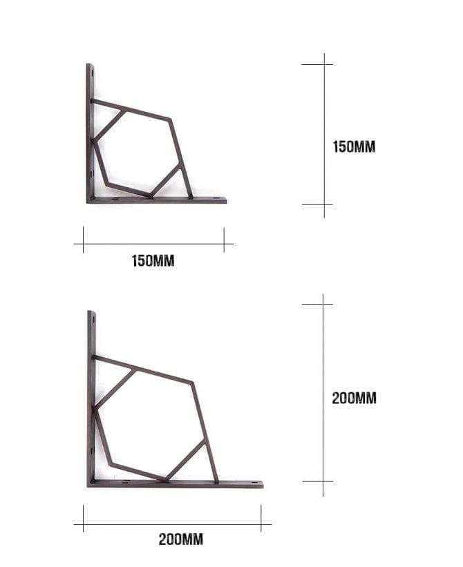 shelf bracket dimensions