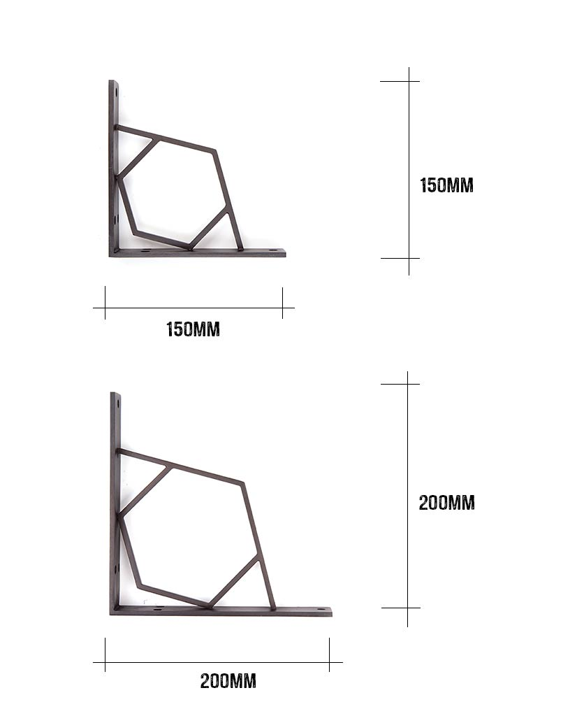 shelf bracket dimensions
