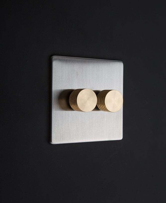 silver & gold double dimmer standard