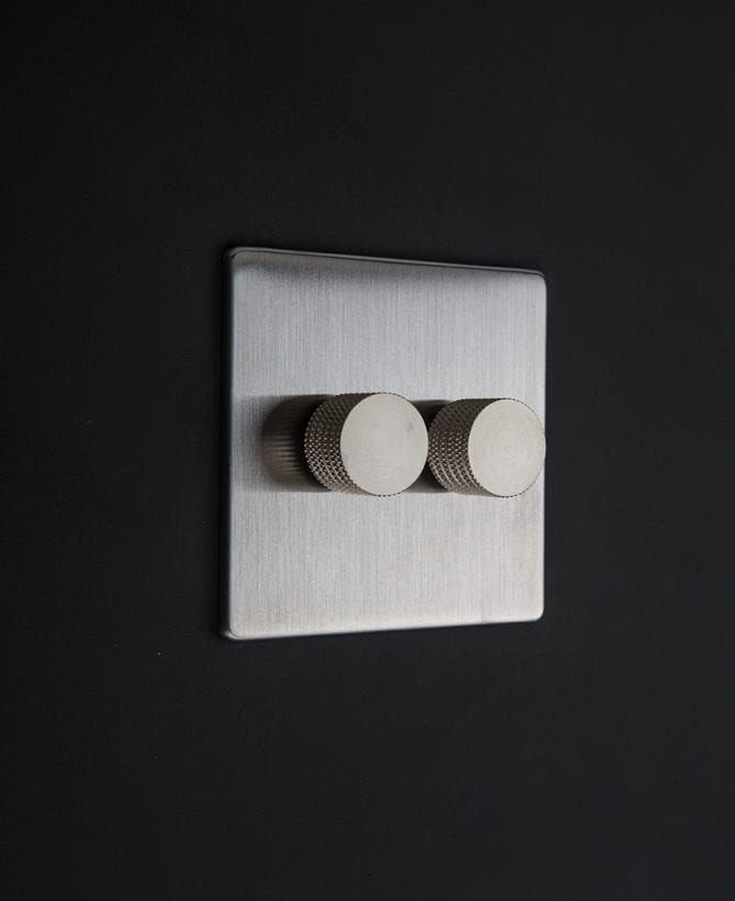 silver & silver double dimmer standard