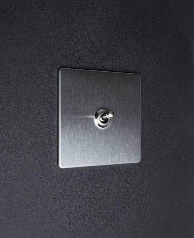silver single toggle light switch