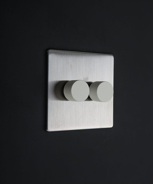 silver & white double dimmer standard