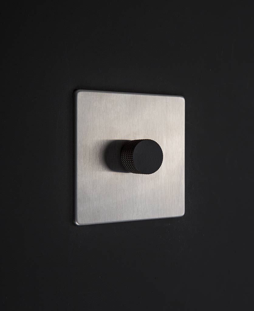 silver & black single dimmer