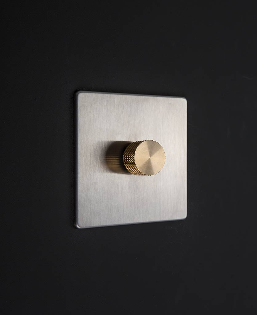 silver & gold single dimmer