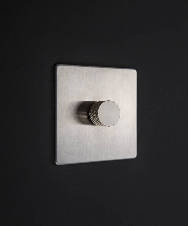 silver & silver dimmer switch