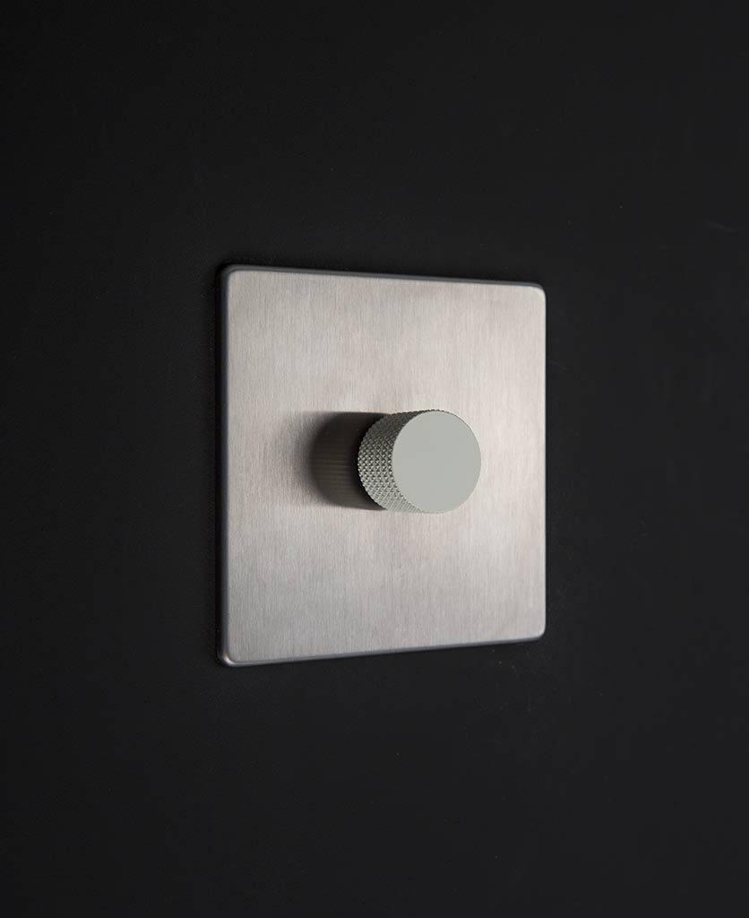 silver & white single dimmer