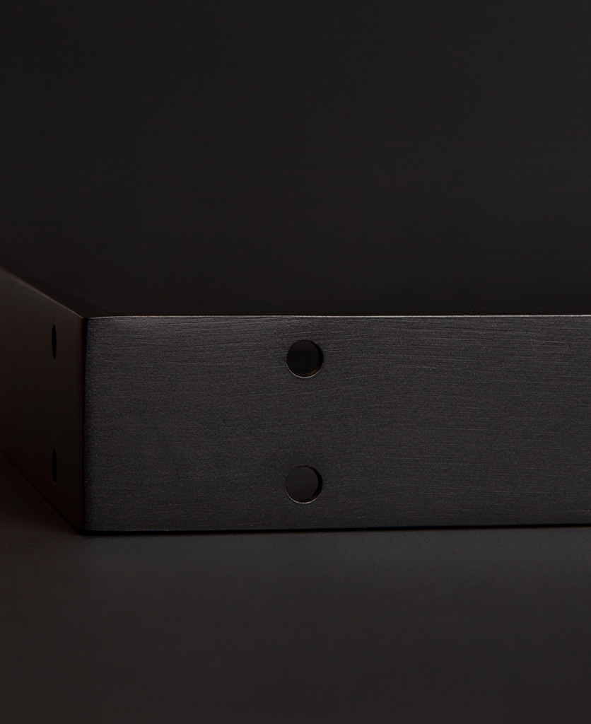 small antique black shelf bracket