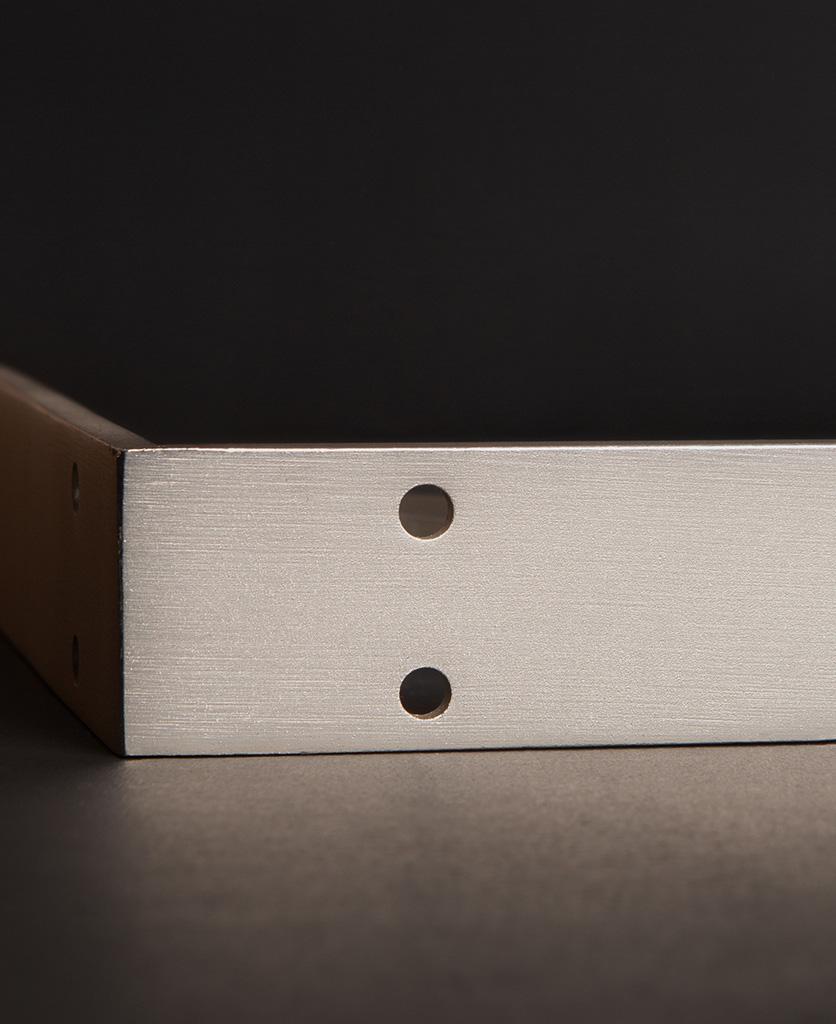 small dull nickel shelf bracket