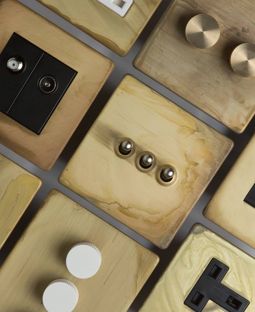 smoked gold switches & sockets